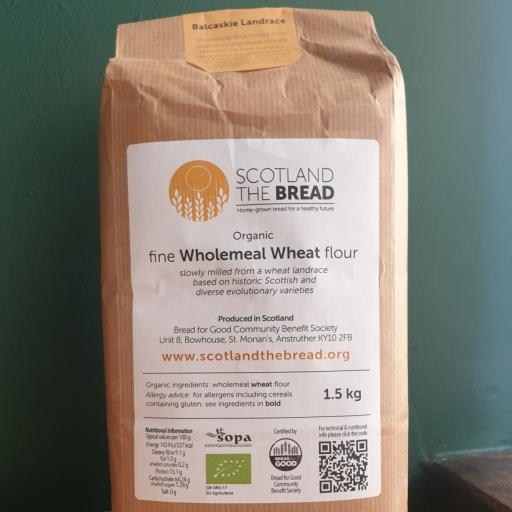 Scotland The Bread 'Balcaskie Landrace' Organic Wholemeal Bread Flour 1.5kg